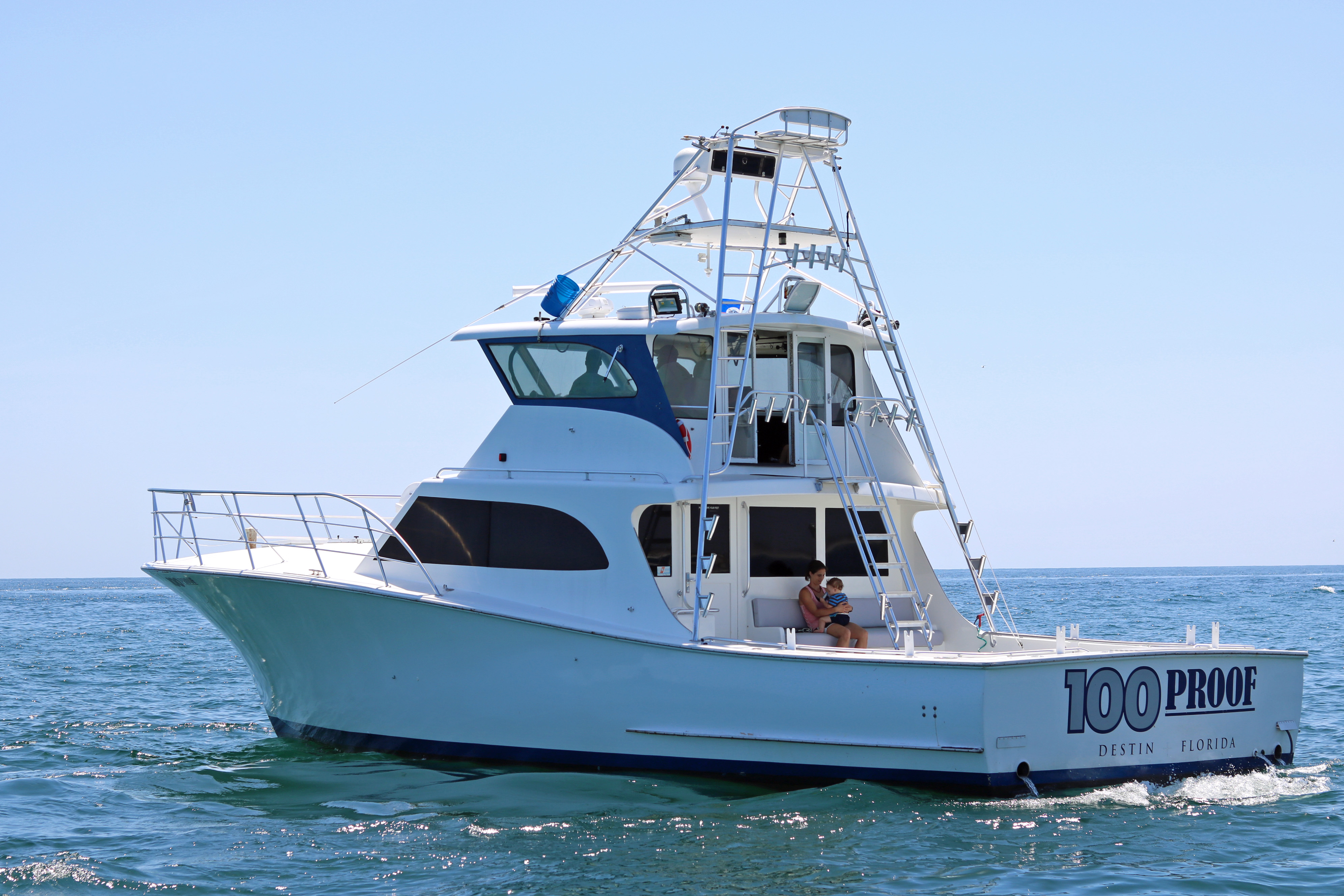 Destin charter boat 100 proof charters for Deep sea fishing destin
