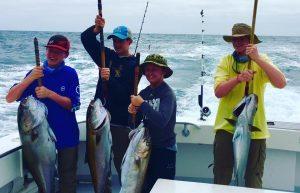 kids charter fishing amberjacks