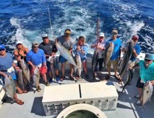 Amberjacks caught on a fishing trip in Destin, FL